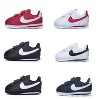 Wholesale Shoes Running Trainers - Infant & Children Cortez running shoes Leather Kids outdoor Sports trainer toddler athletic boy & girl sneaker size 22-35