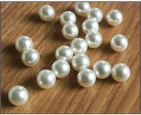 Wholesale 2016 Fashion new design Loose Beads Nonporous imitation pearl beige ball ABS imitation pearls Crystal A0233