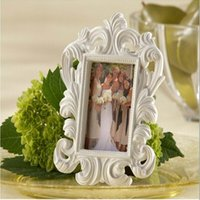 Commercio all'ingrosso regali di giorno di San Valentino Bianco Nero barocco elegante Place Card Holder Photo Frame