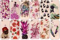 Wholesale Dog Tpu - Flower Lace Soft TPU IMD Case For iphone 8 Galaxy Note8 Note 8 (J7 J5 J3)2017 J730 J530 Butterfly Dog Pineapple Cartoon Owl Panda Skin Cover