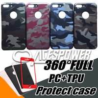 Wholesale Case Protect Galaxy - 360 Protect Case For Iphone 7 Plus Samsung Galaxy S8 360 Degree Cover LG K10 2017