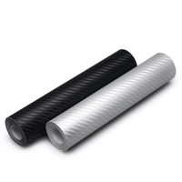 Wholesale Car Wrapping Carbon Accessories - 10x127cm Carbon Fiber Vinyl Film Car Stickers Waterproof Car Styling Wrap For Auto Vehicle Detailing Car accessories Motorcycle