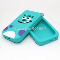 Wholesale Galaxy Fame Case - Galaxy Fame Case 3D Animal Soft Rubber Sulley Silicone Mobile Phone Back Cases Cover For Samsung Galaxy Fame S6810