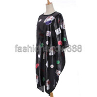 Wholesale Waterproof Hairdressing Cape - 2014 1 Pcs Poker Printed Cloth Salon Hairdressing Hairdresser Hair Cut Cutting Gown Barbers Cape Waterproof Wrap