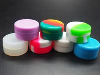 goo containers al por mayor-5 ml Ego Silicone No Stick Jar Contenedor para aceite Dab Wax BHO Crumble Goo miel Acero inoxidable Wax Oil Dabber Tool