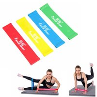 Wholesale Tubing Band Stretching - Wholesale-Free shipping 4 colors Pilates Yoga Resistance Band LOOP Fitness Stretch Crossfit Gym Band Wrist  Ankle tubing 4 Levels Choice