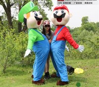 Wholesale Ems Free Delivery - Brand New Custom Made Super Mario Bros Mascot Costume Free Shipping by EMS drop ship fast delivery