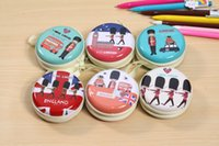 Wholesale Wholesale Small Metal Letter - Women Coin Purse Beauty Tinplate Mini Purse key Wallets Round Headphone Mini Package Change Coin Bag Zipper Love Letter Small Gifts ZD041