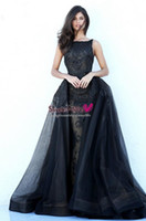 Wholesale Africa Flowers - 2018 Luxury Sourth Africa Prom Dresses Bateau Beading Sexy Backless A Line Organza Long Evening Formal Dress Party Wear Designer Plus Size
