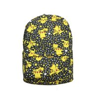 Wholesale Wholesale Pikachu Animal Backpacks - Cute Pikachu Canvas Backpack Double-Deck Travel Bag Mountaineering Bag Cartoon Poke Go Print Student School Bag 2 Size
