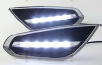 Wholesale Volvo Drl - OsMrk DRL for volvo s60 V60 2009-13 led daytime running light fog lamp with auto off function top quality wholesale price