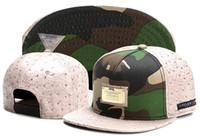 Wholesale Camo Army Sun Caps - 2016 gold camo color snapback cap baseball hat for men women fashion sports hip hop brand hats cotton bone gorras Casquette sun caps