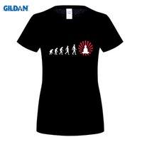 Wholesale Enlighten Girls - O-Neck Darwin evolution enlightened Buddha buddhism Women's t-shirt Promotion Plus Size Girl T Shirt