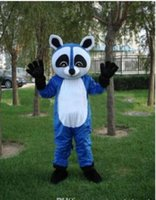 Wholesale Racoon Adult Costume - New Blue Racoon Mascot Costume Adult Size Raccoon Size : S M L XL XXL