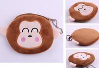 Wholesale Monkey Cute Case - Plush Cotton 10*10CM Cute Monkey - Hand Coin Purse Wallet Pouch Case BAG ; Women Lady Bags Pouch Makeup Case Holder BAG Handbag