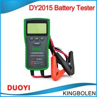 Wholesale Free Battery Testing - DHL free Top Battery Tester DUO YI DY2017 Electric Vehicle Capacity Tester 12V 60A Battery Meter Discharge Fork Charging System Testing tool