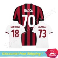 Wholesale Wholesale For Soccer Jerseys - DHL for free AC Milan jersey 2018 camiseta de futbol milan MONTOLIVO SUSO BACCA Soccer Jersey Top Quality