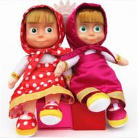 Wholesale Wholesale American Baby Doll - Masha Bear Reborn Masha and Bear Toy Bear Baby Kid Girls American Toys Gifts Toddler Cute Dolls Brinquedos Variados Home Decoration