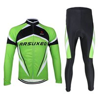 Wholesale Mountains Cycle Jersey - ARSUXEO Ciclismo Cycling Jersey Set MTB Cycling Clothing Long sleeves Mountain Bike Compression 3D Gel Paded Pants Bicicletta