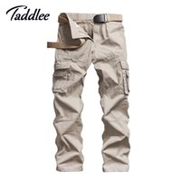 Wholesale cargo combat work trousers - Wholesale-Man Men's Cotton Combat Multi-Pockets Casual Loose Long Straight Full Length Cargo Pants Work Trousers Camouflage Large Size