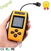 Wholesale Electronic Sonar Fish Finder - Wholesale- Fish Portable Sonar Wired LCD Fish depth Finder Alarm Electronic Fishing Tackle Fish