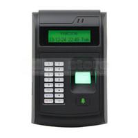 biometric door lock оптовых-DIYSECUR ЖК-биометрические отпечатков пальцев PIN-код дверной замок контроля доступа + 125 кГц RFID ID Card Reader клавиатура USB / дверной звонок кнопка