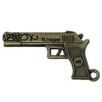 ingrosso fascino antico della pistola-Pendenti Charm Gun Bronze antico 51mm (2