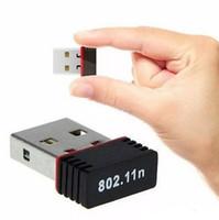 Wholesale Wireless Adapter Wifi Nano - Nano 150M USB Wifi Wireless Adapter 150Mbps IEEE 802.11n g b Mini Antena Adaptors Chipset MT7601 Network Card 100pcs Free DHL