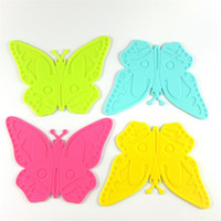 Atacado- Silicone Cartoon Butterfly Shape Table Mat pode ser pendurado Durable Non-Slip resistente ao calor Mat Cushion Silicone Placemat Baking Pad