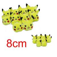 Wholesale Pokemon Lugia Figure - 160pcs CCA595 Poke Plush Toys 8 Styles 3 inch Mon Suicune Charizard Wobbuffet Lugia Pikachu Jigglypuff Gengar Lucario Poke Keychain Pendent