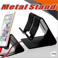 Wholesale Aluminum Tablet Pc Stand - Universal Mobile Phone Stand Aluminum Metal Phone Holder Stander For iPhone Samsung Tablet PC Desk Phone Holder Stand For Smartphones