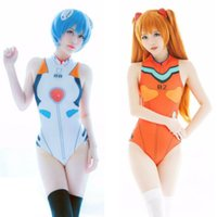 Wholesale Asuka Langley - cosplay costume Neon Genesis Evangelion Ayanami Rei Ikari Shinji Soryu Asuka Langley Cosplay Costume EVA One-pieces Spandex Swimsuit