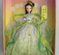 Wholesale Kurhn Chinese Myth - D0700 Best children girl gift 30cm Kurhn Chinese Doll dress Chinese myth Gift Traditional toy Green tea Fairy in box 1pcs