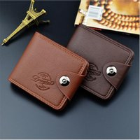 Wholesale Clutch Type Purse - Men Short Type Wallet Causal Credit Card Holder Coin Pocket Coin Pocket Purse Wallet Famous Brand Mens Wallet