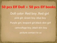 Wholesale Soft Books - Free DHL 10 Style Christmas Elf Doll Plush toys Elves Xmas dolls on the shelf and Soft Back Books For Kids Holiday And Christmas Gift