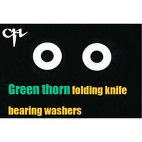 Wholesale Ch Wholesale - CH DIY green thorn bearing washers Flipper folding knife Outdoor camping hunting pocke knives EDC tool Survival