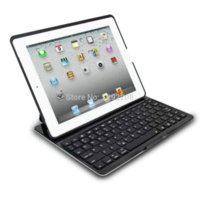 Wholesale Ipad4 Keyboards - Ultra Slim High Quality Aluminium Alloy Wireless Bluetooth Keyboard for iPad 2 3 4 iPad4 Keypad with Portable Case Cover