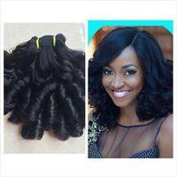 Wholesale Nigerian Hair - 9A Double Drawn Hair Luxury Curl Aunty Virgin Funmi Hair,Best Quality Hair Weave Single Bundle 1pc Nigerian hair extensions