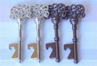 Wholesale Wedding Beer Bottles - hot Vintage Key Bottle Opener Antique Key Metal Beer Opener Bronze Skeleton Keychain Bottle Openers Wedding Favor free DHL #Y185