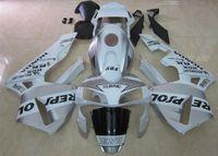 Wholesale Cbr Abs Fairing Kit - New ABS Injection Full bike fairings kit Fit for HONDA CBR600RR F5 2005 2006 CBR 600 RR 05 06 CBR600 600RR fairing silver white repsol
