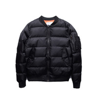 Wholesale Quilted Coat Black - Kanye West Jacket Classic Mens Coats Winter Clothes Men Parka Jaqueta Masculina Men Jacket Solid Quilted Jackets Bomber Men
