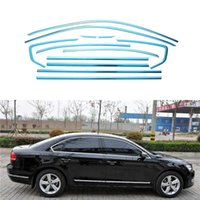 Pieno finestra Trim Strip decorazioni accessori da auto per Volkswagen Passat B7 berlina 2012 2013 2014 2015 Acciaio Styling 12