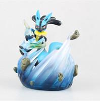 Wholesale Pokemon Figure Collection - 10.5cm Poke Go Lucario Poke Studios PVC Action Figure Collection Model Kids Toy Free shipping