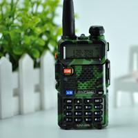 ingrosso 5w uhf walkie-DHL Nave Baofeng UV5R Walkie Talkie professionale CB Radio Baofeng UV5R Transceiver 128CH 5W VHFUHF palmare 5R UV per caccia Radio