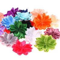 ingrosso angolo di fiori-1,5 pollici fiori nastro fiori ad angolo acuto raso per fasce accessori per fiori fai da te senza archi capelli fiori carini 20 colori