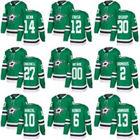 Wholesale Red Bishops - 2018 season Men's Dallas Stars 6 Julius Honka 14 Jamie Benn 10 HANZAL 30 BISHOP 2 HAMHUIS 12 FAKSA 13 JANMARK 27 CRACKNELL hockey Jersey