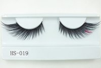Wholesale Eyelashes Bushy - 3D silk eyelashes 100% Handmade winged eyelashes Bushy Natural False Eyelashes faux Mink Hair Handmade Eye Lashes Makeup ToolFree shipping