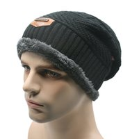 Wholesale Mens Sports Beanies - Wholesale-Unisex Womens Mens Sports Camping Hat Winter Beanie Baggy Warm Wool Ski Cap Hot