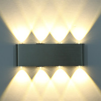 Wholesale Modern Mirror Sconce - 8W LED Wall Sconces Aluminum Light Rectangular Wall Lamp Backlight Decorative Light Corridor Bedside Bedroom Mirror Light Up Down Wall Lamp