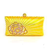 Moda Mulheres Evening Clutch New Rose Flower Satin Purse and Handbags Lady Gold Party Bags Rosa Wedding Orange Clutch Bag T09